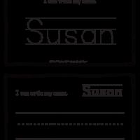 Susan – Name Printables for Handwriting Practice