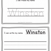 Winston – Name Printables for Handwriting Practice