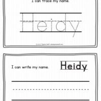 Heidy – Name Printables for Handwriting Practice
