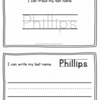 Phillips – Last Name Printables for Handwriting Practice