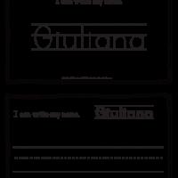 Giuliana – Name Printables for Handwriting Practice