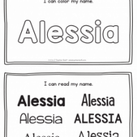 Alessia – Name Printables for Handwriting Practice