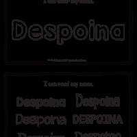Despoina – Name Printables for Handwriting Practice