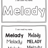 Melady – Name Printables for Handwriting Practice