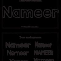 Nameer – Name Printables for Handwriting Practice