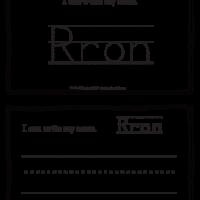 Rron – Name Printables for Handwriting Practice