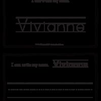 Vivianne – Name Printables for Handwriting Practice