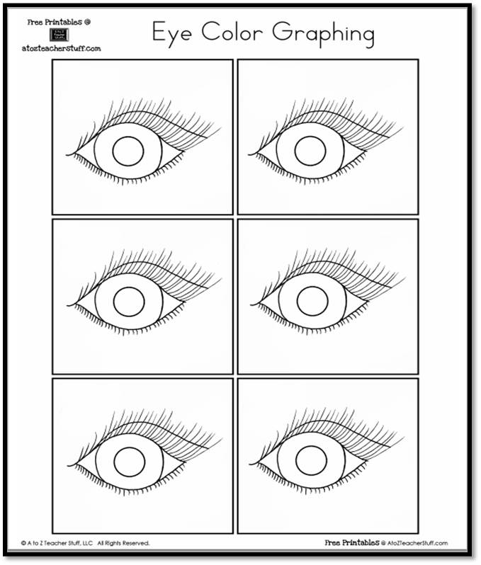 photo relating to Printable Eye titled Eye Coloration Graphing A towards Z Trainer Things Printable Internet pages