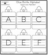 Glue Bottle Alphabet – Uppercase