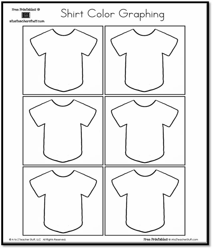 Shirt Color Graphing Free Printable