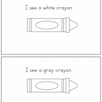 crayon colors printable book - My Color Book Printable
