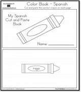Cut and Paste Colors Printable Book – Spanish and English