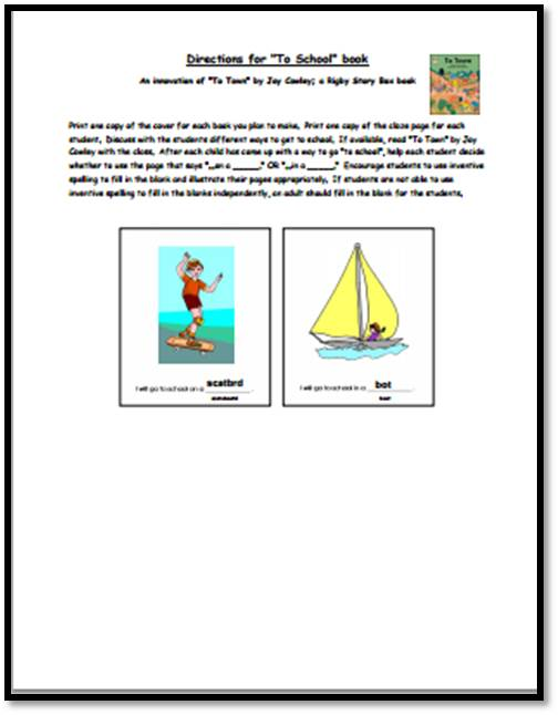 "Innovative Classroom Worksheets : Class book ""to school innovation a to z teacher stuff"