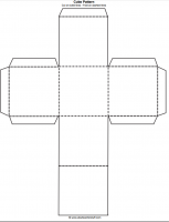 Printable Cube Pattern or Template