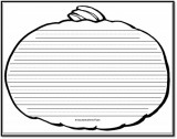 Pumpkin Writing Paper – 8 Handwriting Lines