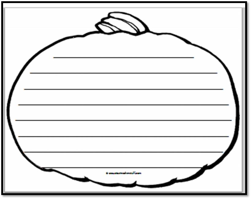 Pumpkin Writing Paper – Landscape 3 | A to Z Teacher Stuff ...