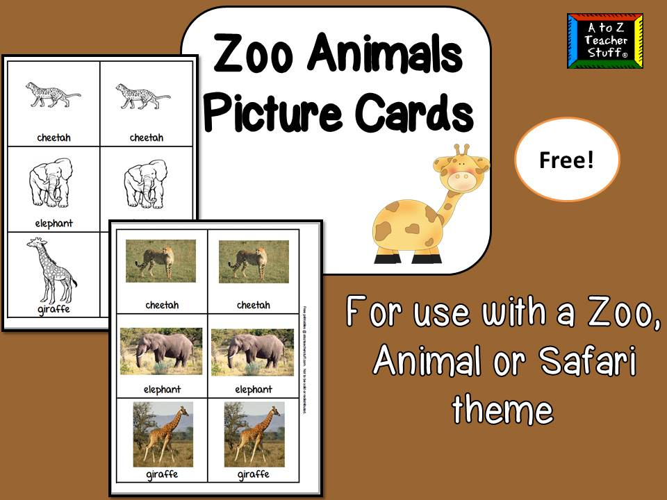 photograph regarding Zoo Animal Flash Cards Free Printable referred to as Zoo Animal Visualize Playing cards A in direction of Z Trainer Things Printable