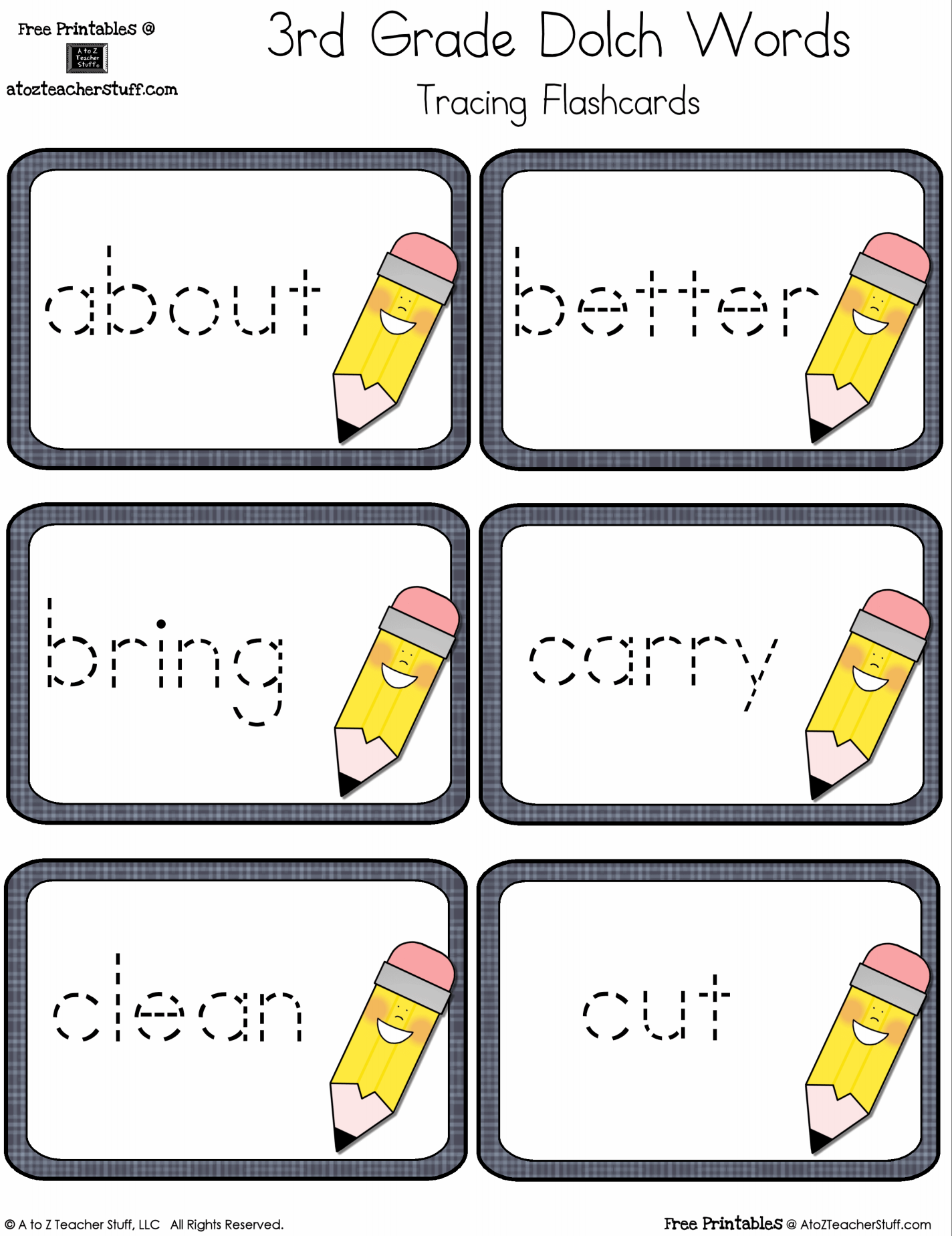 photo regarding Printable Sight Word Cards named 3rd Quality Dolch Sight Phrases Tracing Flashcards A towards Z