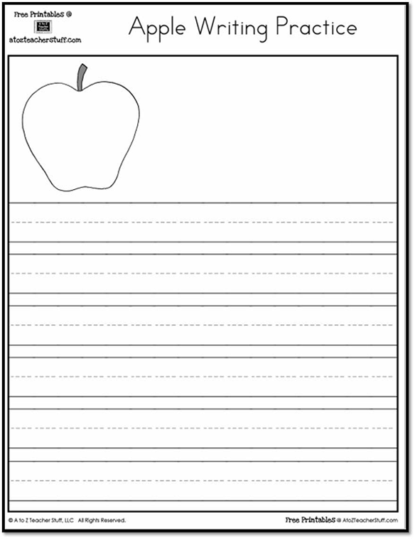 Apple Writing Practice {free printables}