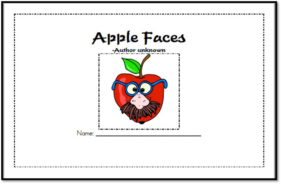 Apple Faces Printable Book {free}