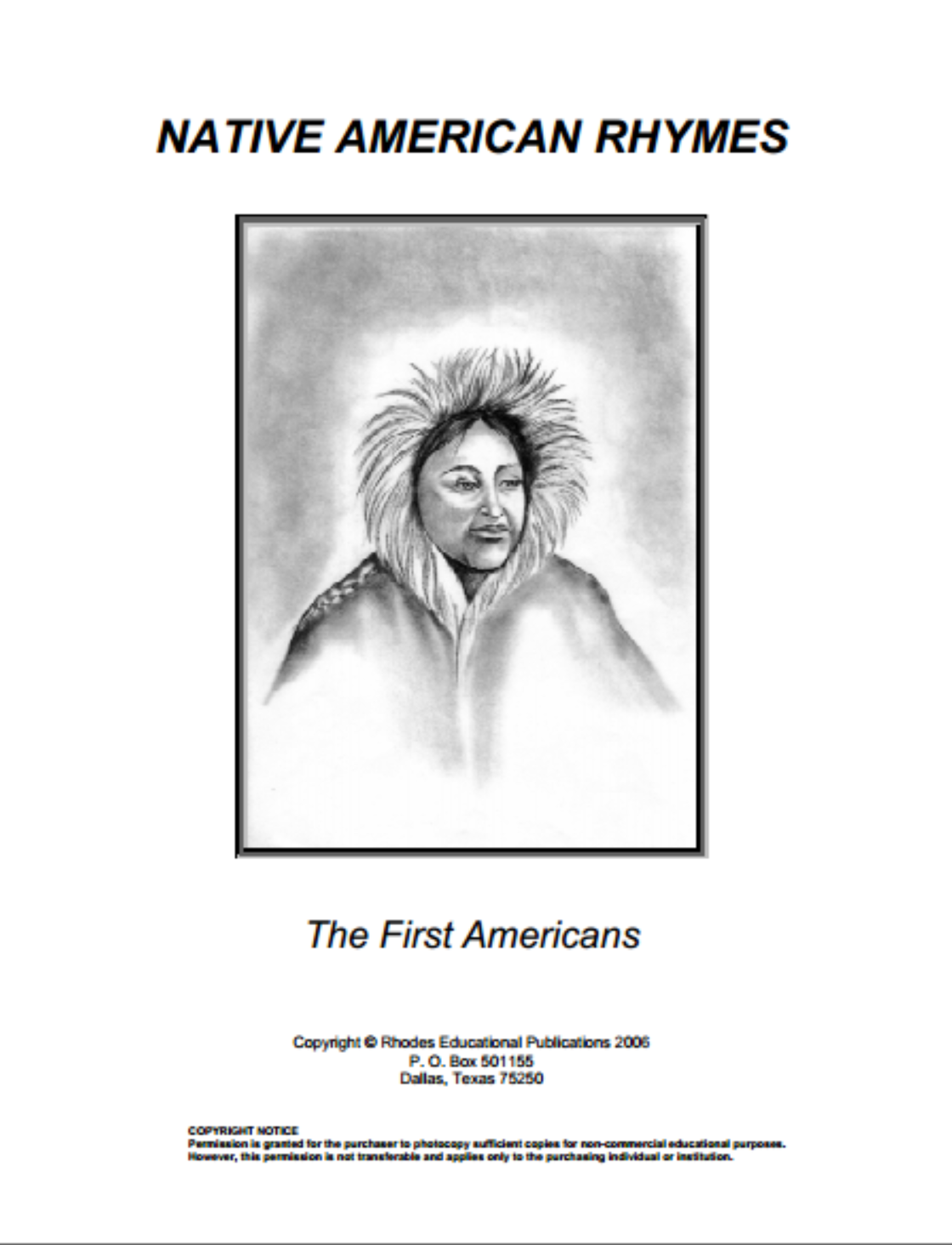 Native American Rhymes: The First Americans {free printables}