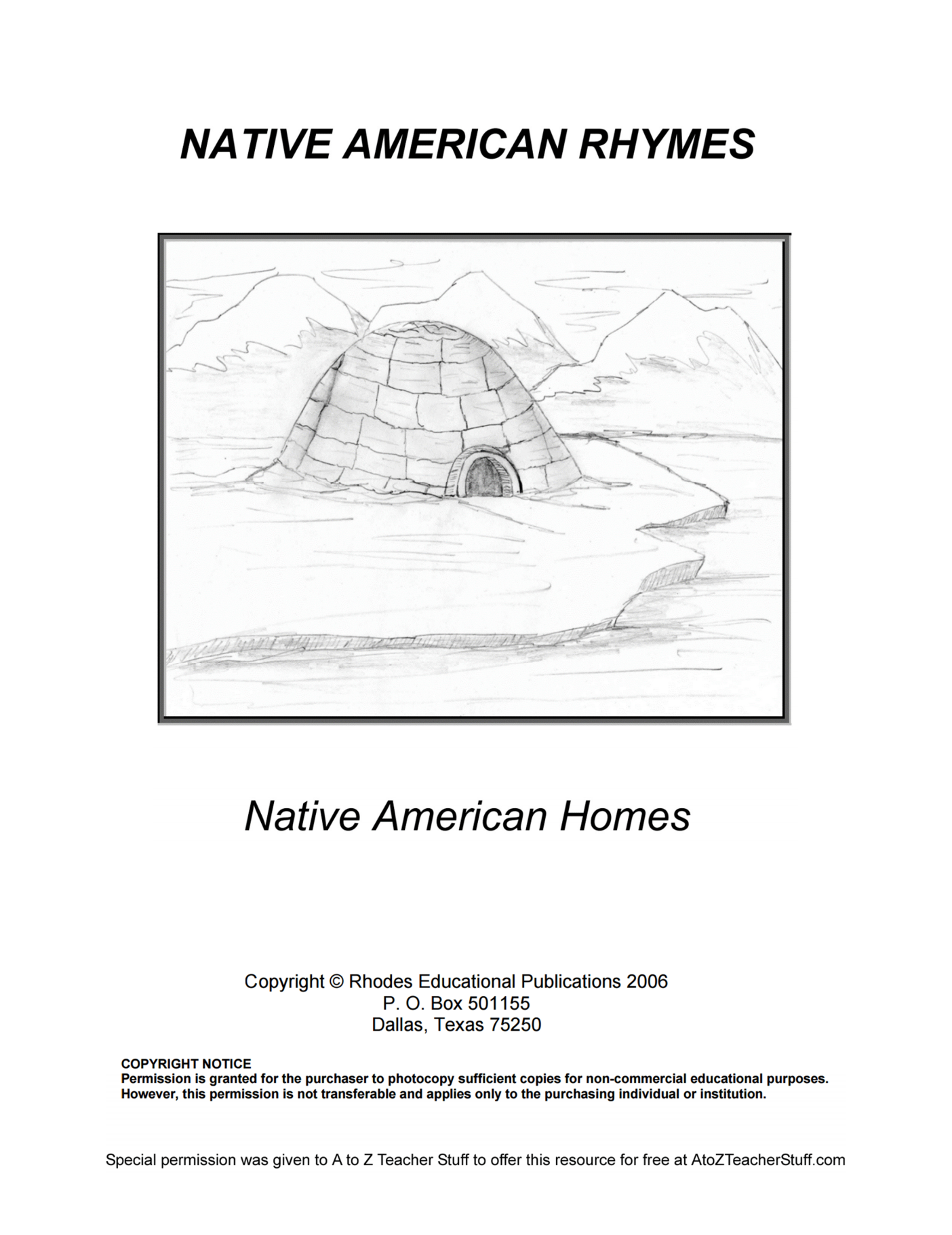 Native American Rhymes Printable Resources | A to Z ...