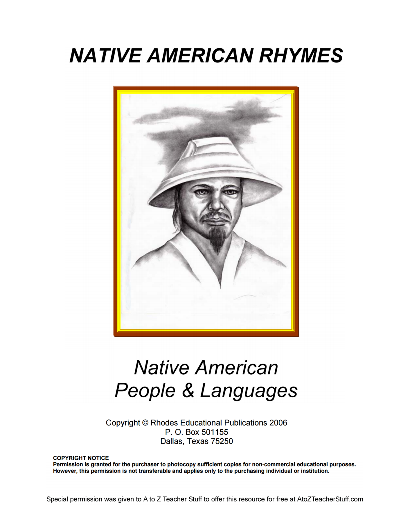 Native American Rhymes People & Languages {free printables}