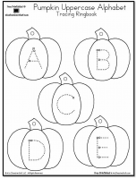 Pumpkin Lowercase and Uppercase Tracing Alphabet