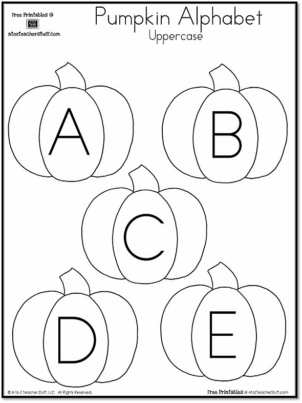 Pumpkin Lowercase And Uppercase Alphabet A To Z Teacher Stuff. Pumpkin Uppercase Alphabet Free Printables Lowercase. Worksheet. Upper And Lower Case Alphabet Worksheets At Clickcart.co