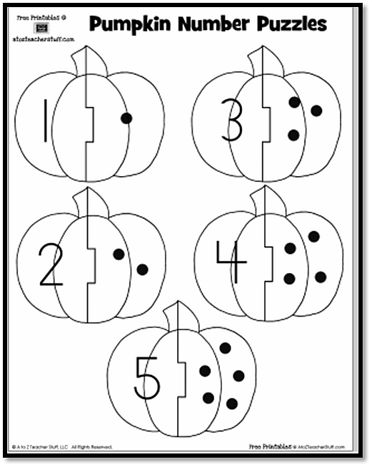 Pumpkin Number Puzzles A To Z Teacher Stuff Printable Pages And. Pumpkin Number Puzzlespg9. Worksheet. Name Dots Worksheet At Clickcart.co