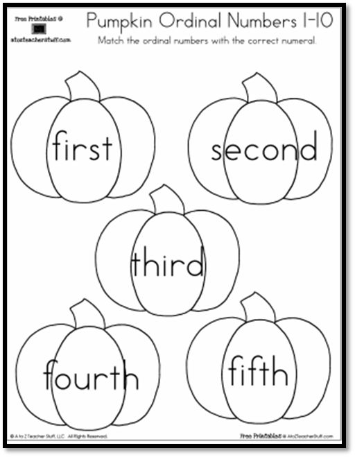 pumpkin ordinal numbers-pg8