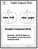 Pumpkin Compound Words Printable Activity