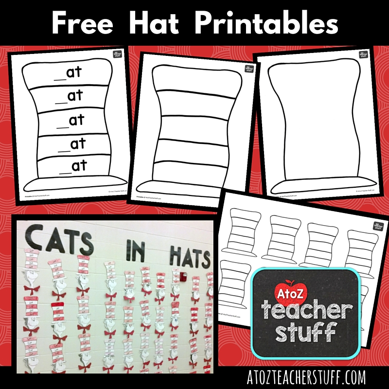 Hat Printables for Dr Seuss Cat in the Hat or Just Hats – Dr Seuss Worksheets Printables