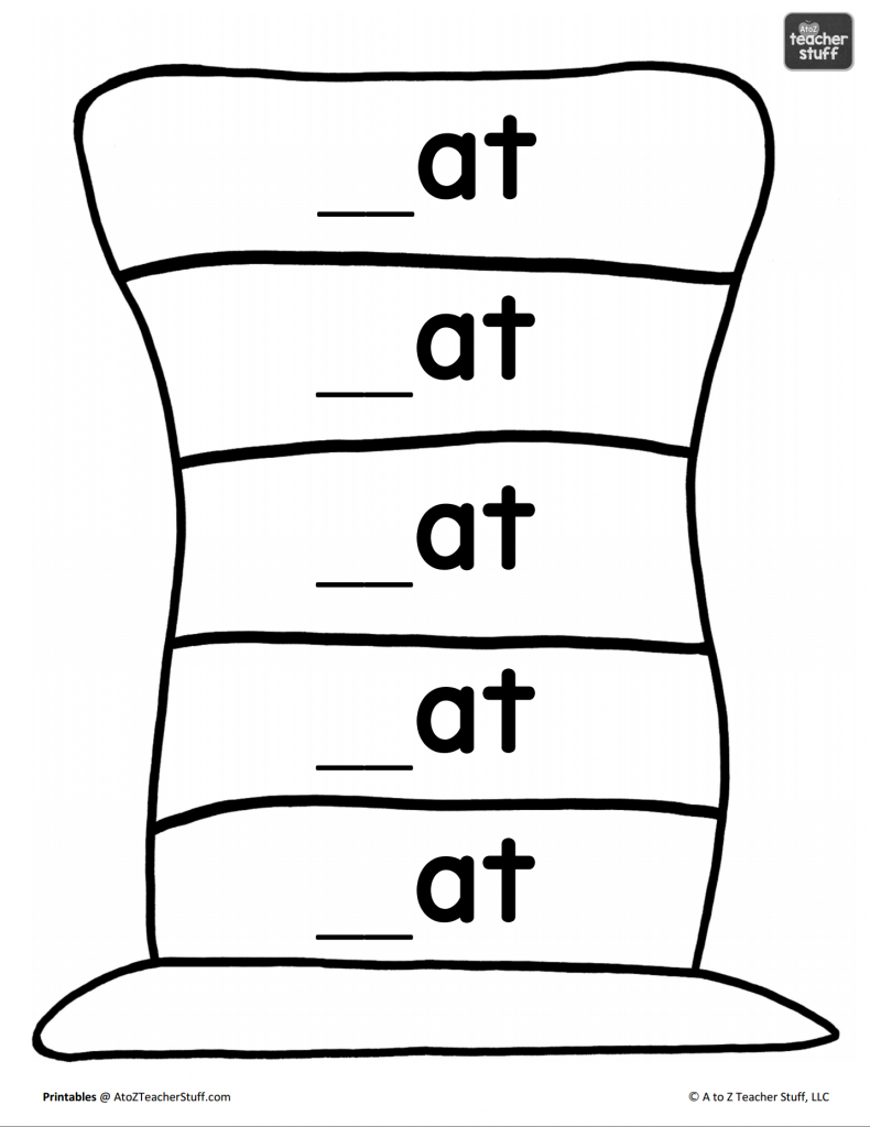 photograph relating to Word Fill in Printable titled Hat Printables for Dr. Seuss, Cat within just the Hat, or Only Hats
