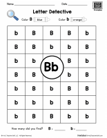 Letter B: Letter Detective Uppercase & Lowercase Visual Discrimination