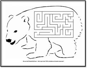 Polar Bear Maze {free printable}