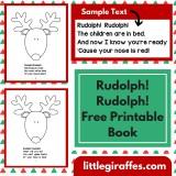 Rudolph! Rudolph! Printable Book