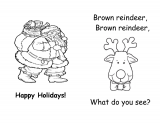 Brown Reindeer Printable Book
