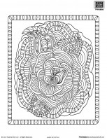 Detailed Flower Advanced Coloring Page