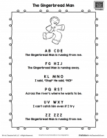 Gingerbread Man Poem Printable