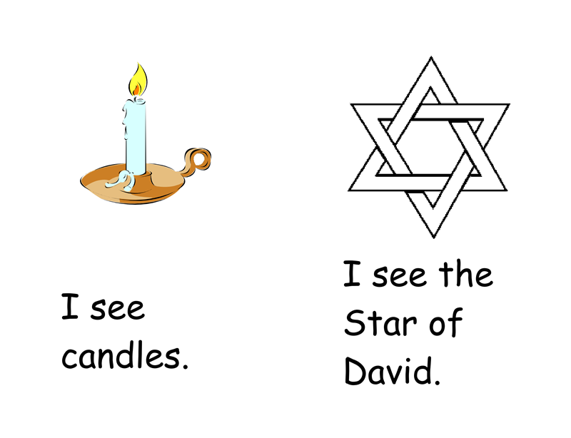 I See Hanukkah Printable Book – Hanukkah Worksheets