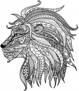 Detailed Lion Advanced Coloring Page