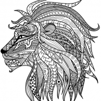 detailed lion advanced coloring page - Printable Advanced Coloring Pages