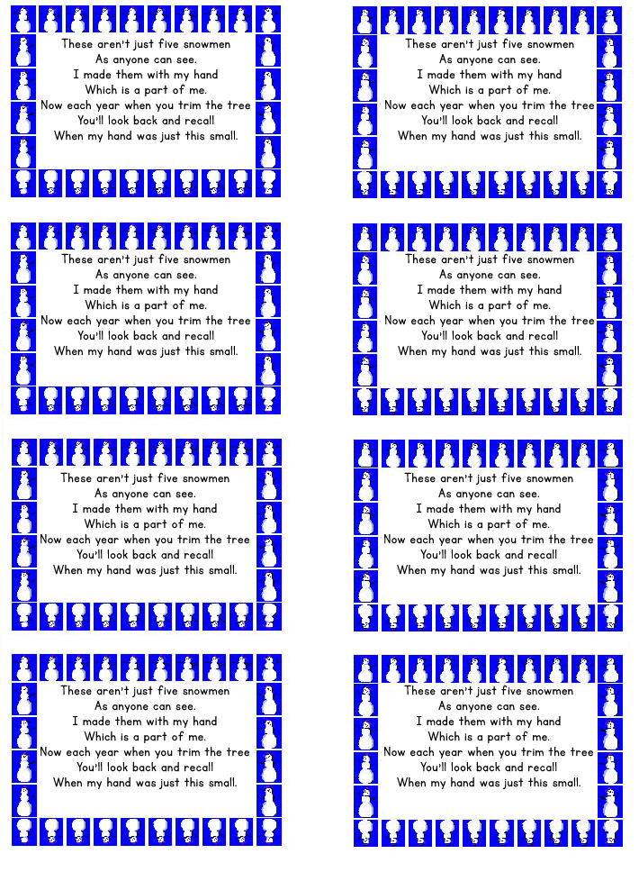 printable keepsake handprint poem 2012 handprint calendar grandparent