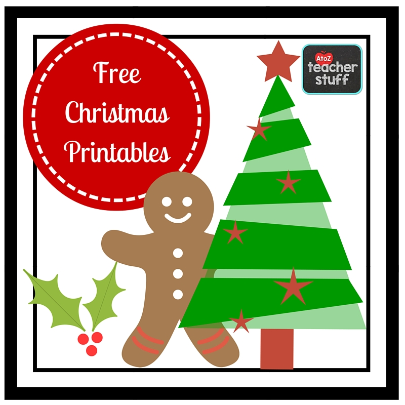Christmas Classroom Decoration Printables ~ Christmas printables worksheets a to z teacher stuff