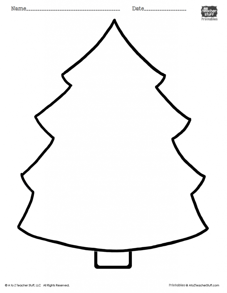 Christmas Tree Printable Page