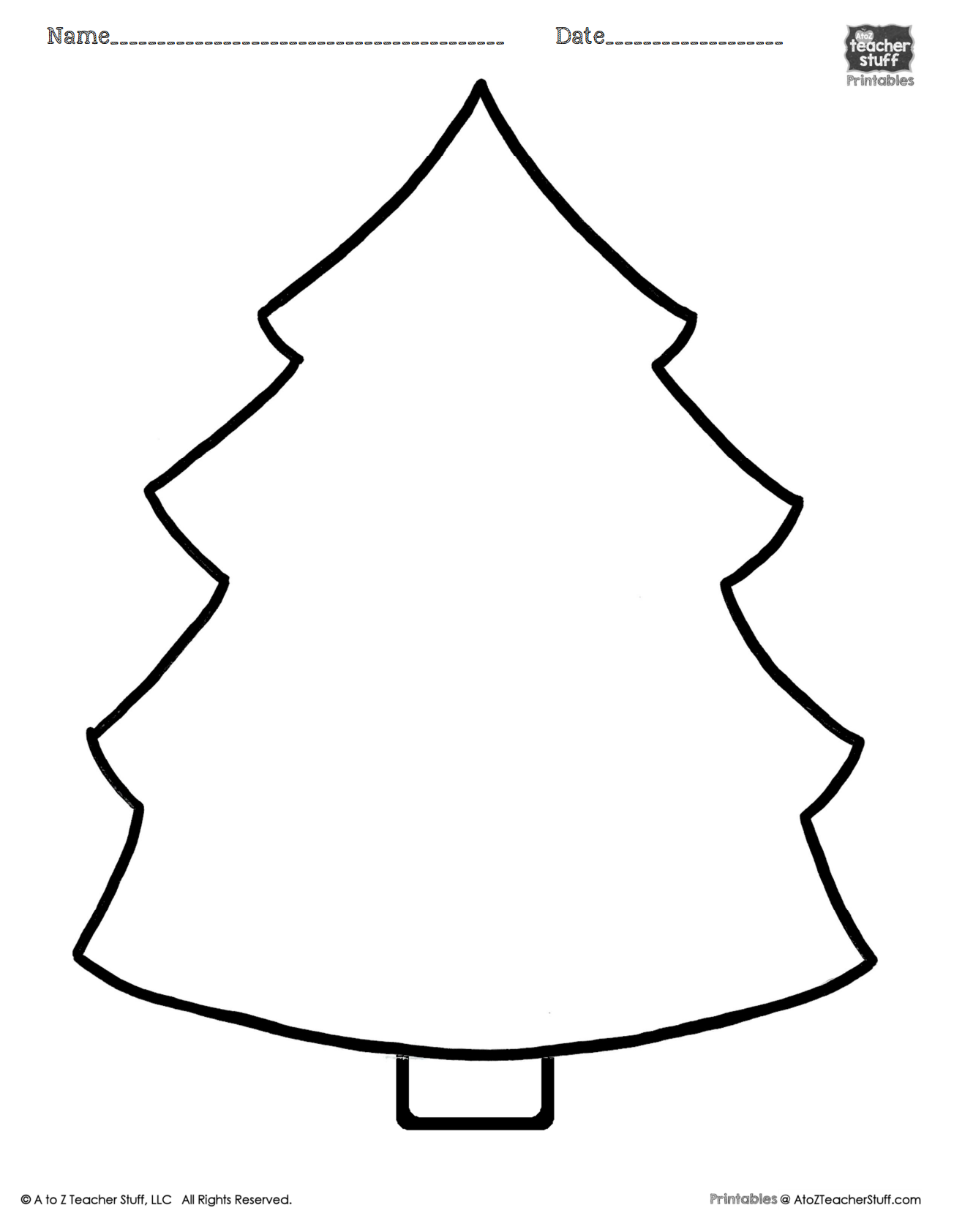 here is a printable christmas tree page you can use as a
