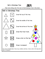 Roll A Christmas Tree Printable Game