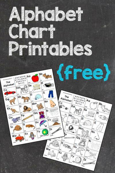 Free Alphabet Chart Printables