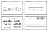 Aurelie – Name Printables for Handwriting Practice